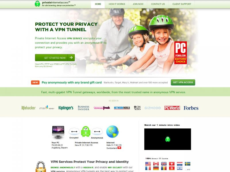 Privateinternetaccess.com – Private Internet Access VPN Review Screenshot