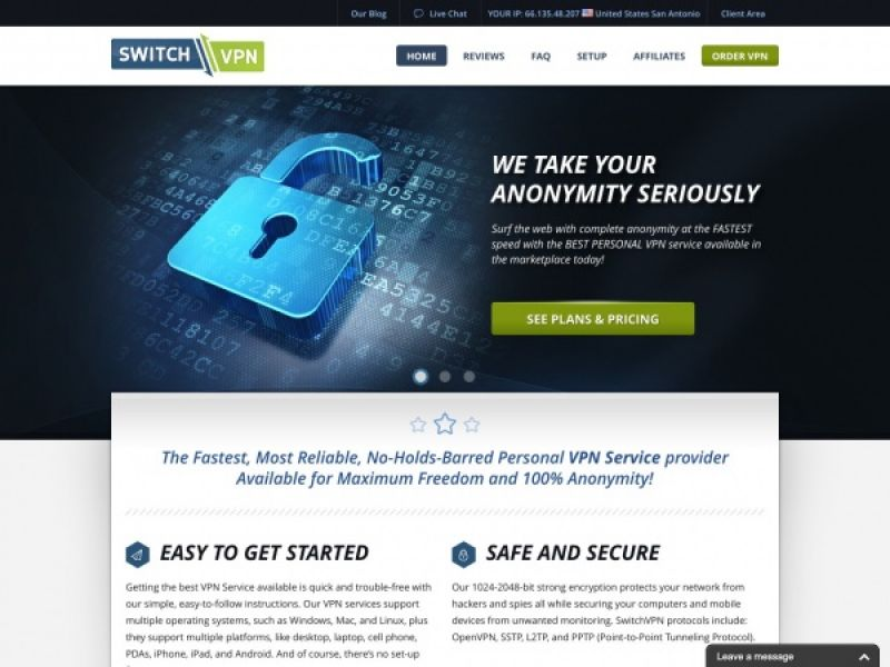 Switchvpn.net – Switch VPN Review Screenshot