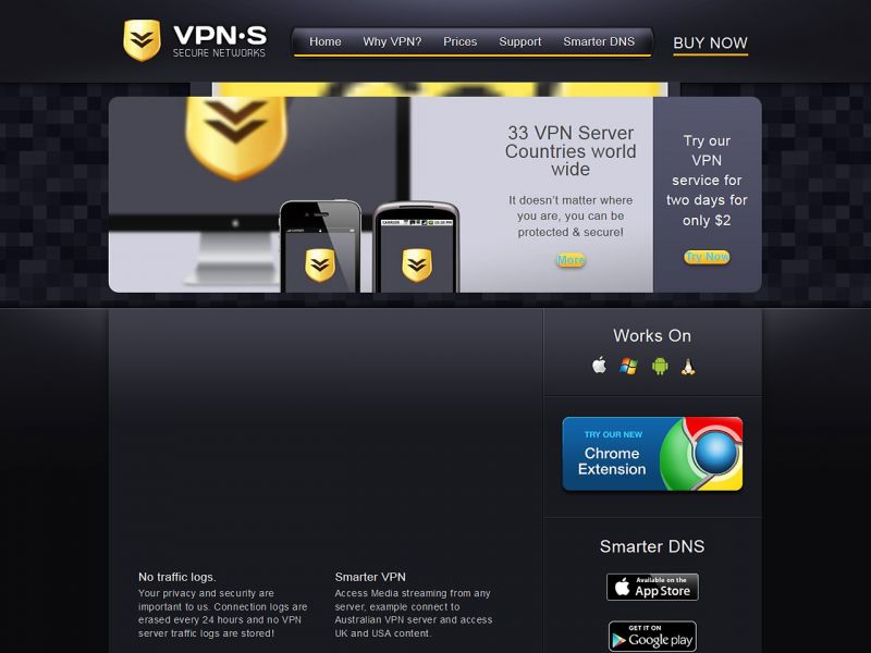 VPNsecure.me Review Screenshot